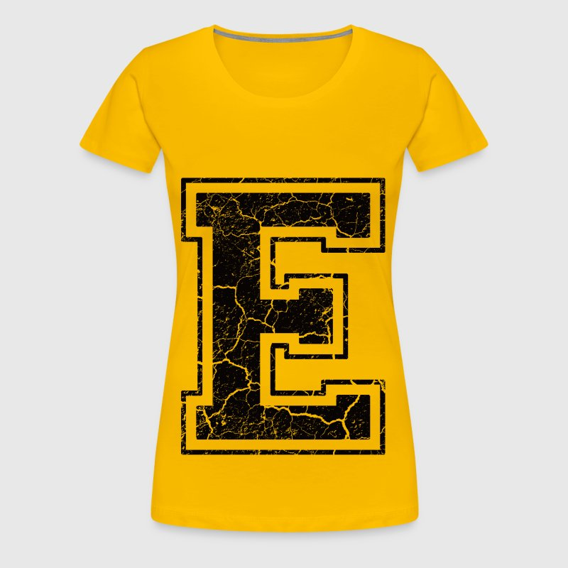 Letter E in the grunge look - Women's Premium T-Shirt