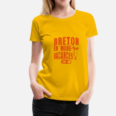 Cocktail Humour breton en mode vacances cocktail humour - T-shirt Premium Femme
