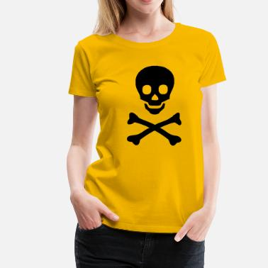 Chemistry, instruction, trains, chemical, poison, acid, hydrochloric acid, test tube, pirat, bone, head, totenkopf, spirit, ghost, Halloween  - Naisten premium t-paita