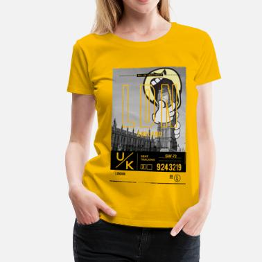 Officialbrands SmileyWorld 'London Big Ben' - Women's Premium T-Shirt