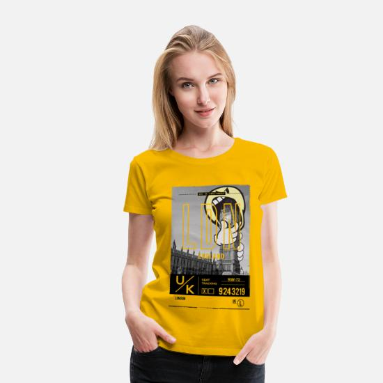 Officialbrands T-Shirts - Smileyworld 'London Big Ben' - Women's Premium T-Shirt sun yellow