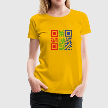 I Love You QR-Code - Frauen Premium T-Shirt