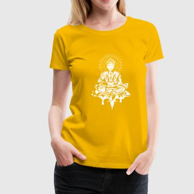 Buddha in the lotus position - White- - Women's Premium T-Shirt