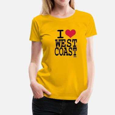 West Coast i love west coast by wam - T-shirt Premium Femme