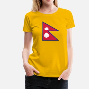 Saarc National Flag Of Nepal - Women's Premium T-Shirt