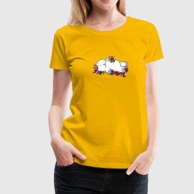 Munching comic Unicorn rainbow - Women's Premium T-Shirt