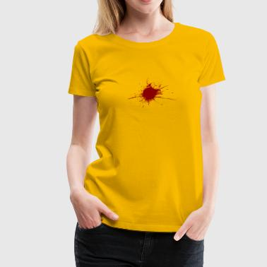 Blood Spatter From A Bullet Wound - Women's Premium T-Shirt