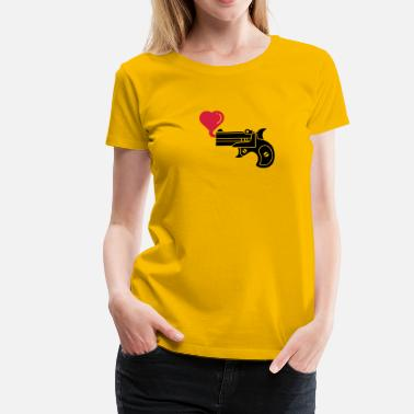 Blow Bubbles Pistol Blowing Heart Bubbles - Women's Premium T-Shirt