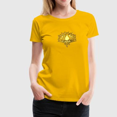GOLDEN LOTUS/ c /symbol of divinity, enlightenment and higher consciousness/ LOTOS I - Women's Premium T-Shirt