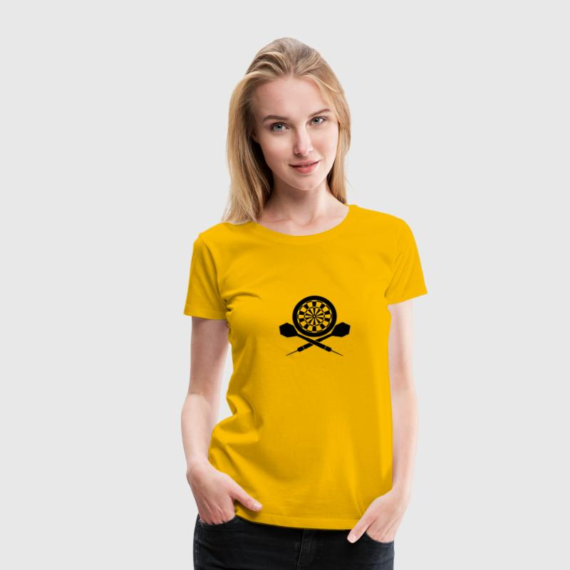 Darts Board Logo - Women's Premium T-Shirt