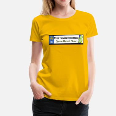 Decals ROSCOMMON, IRELAND: licence plate tag style decal - Women's Premium T-Shirt