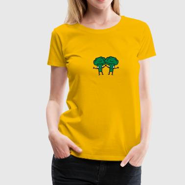 Broccoli's friends team comic, funny - Women's Premium T-Shirt