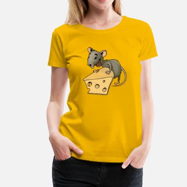Vermin Fiese mouse rodent mouse vermin rodent cheese - Women's Premium T-Shirt