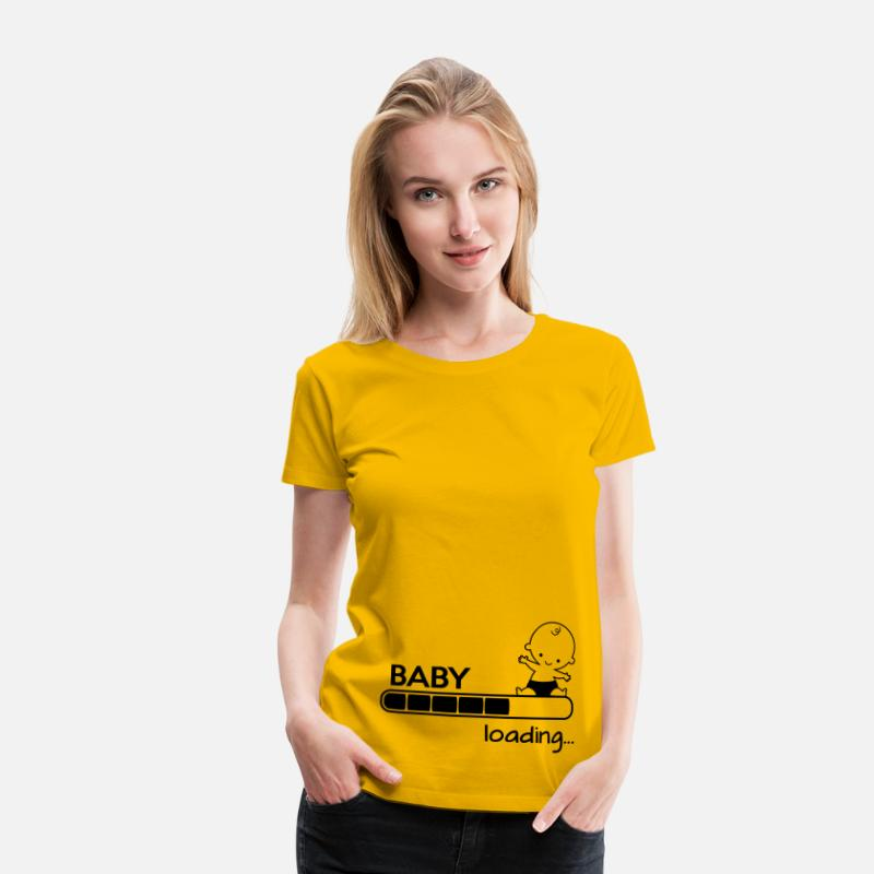 Funny T-Shirts - Baby loading - Women's Premium T-Shirt sun yellow