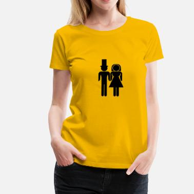 Couples Marriage Marriage Couple - Women's Premium T-Shirt