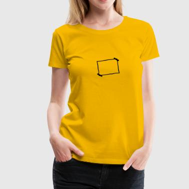 Blank piece of paper stuck note - Women's Premium T-Shirt