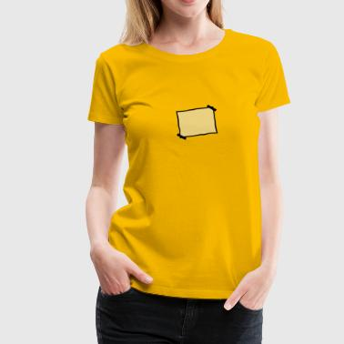 Piece Of Paper Blank piece of paper stuck note - Women's Premium T-Shirt