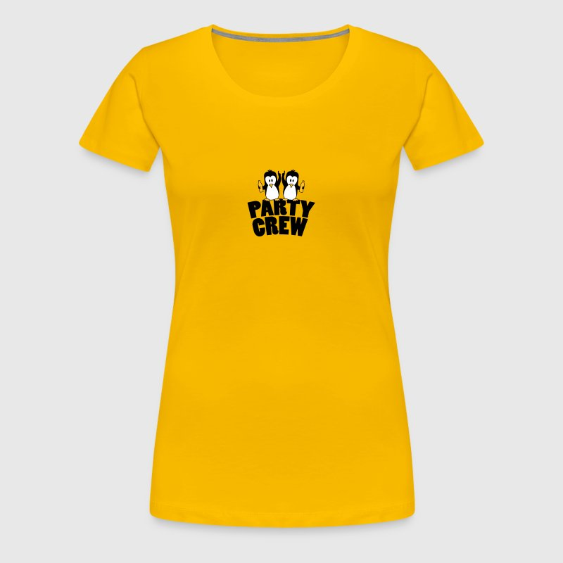 Drunk drinking party crew team 2 penguins - Women's Premium T-Shirt