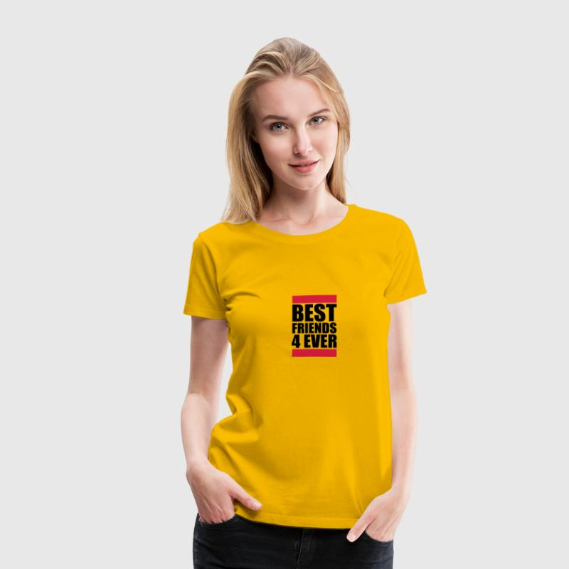Best Friends 4 Ever Logo Design - Women's Premium T-Shirt