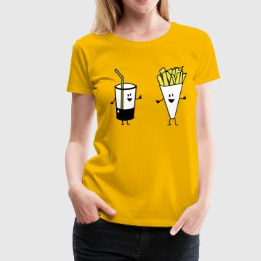 french fries drink - Vrouwen Premium T-shirt