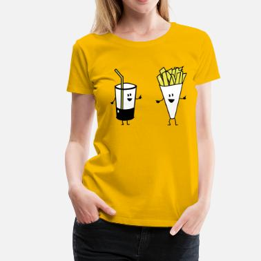 French Fries french fries drink - Vrouwen Premium T-shirt