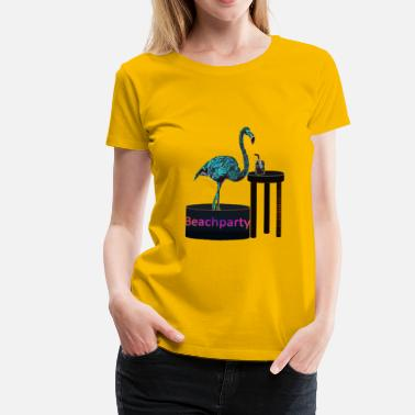 Beachparty Beachparty Flamingo - Frauen Premium T-Shirt
