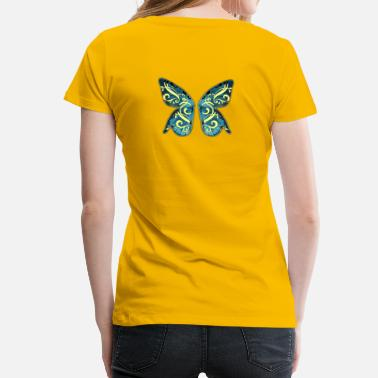 Elfe Fee Schmetterlinge Schmetterlingsflügel, Elfe, Fee, Schmetterling - Frauen Premium T-Shirt