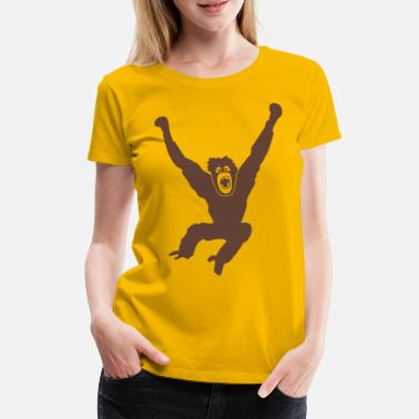 Orang Utan Monkey ape chimp gorilla orang utan swing king - Women's Premium T-Shirt