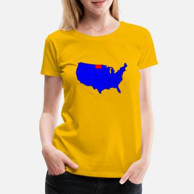 Northamptonshire State of North Dakota Position - Premium T-shirt dam