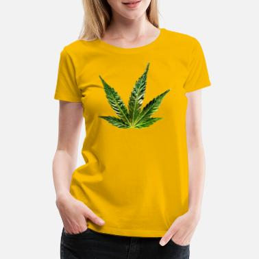 Greenman hemp leaf - Women's Premium T-Shirt