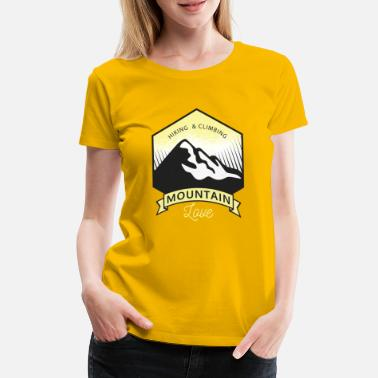 Caption HIKING & CLIMBING MOUNTAIN LOVE T-SHIRT - Women's Premium T-Shirt