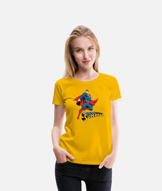 League T-shirts - Superman Move Pose T-shirt tonåring - Premium T-shirt dam solgul