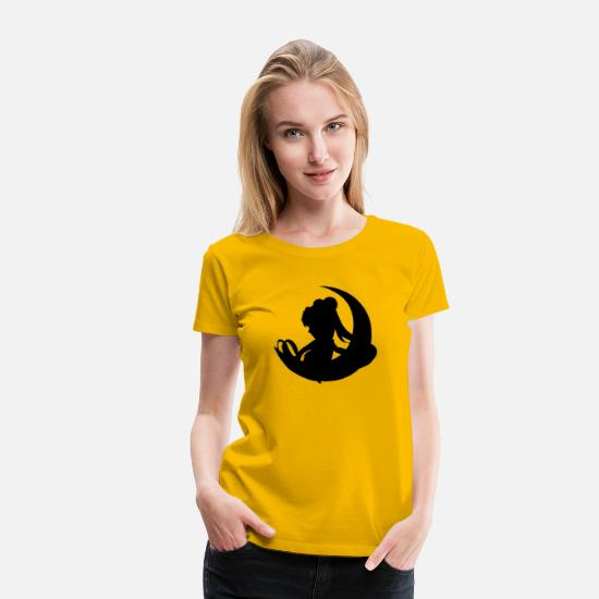 Sailor T-Shirts - Sailor moon - Women's Premium T-Shirt sun yellow