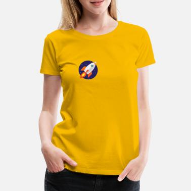 Rocket in space - Women's Premium T-Shirt