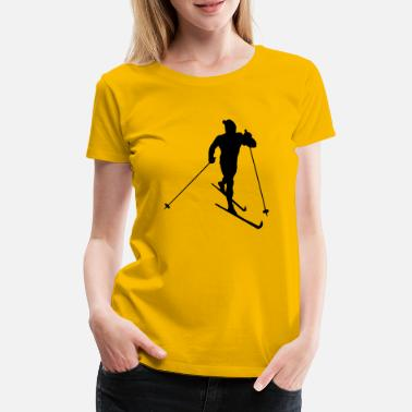 Sports skiing winter sport - Premium T-skjorte for kvinner
