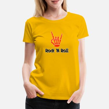 Bones Rock N Roll Rock and Roll Sign Bone Gift - Women's Premium T-Shirt