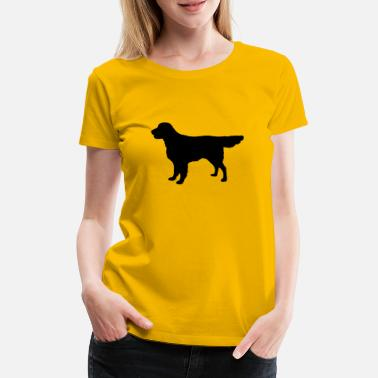 Flatcoat Retriever Dog - Premium T-shirt dame