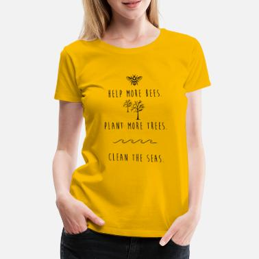 Green Bay Packers Help Bees - Plant trees - Clean seas - Frauen Premium T-Shirt