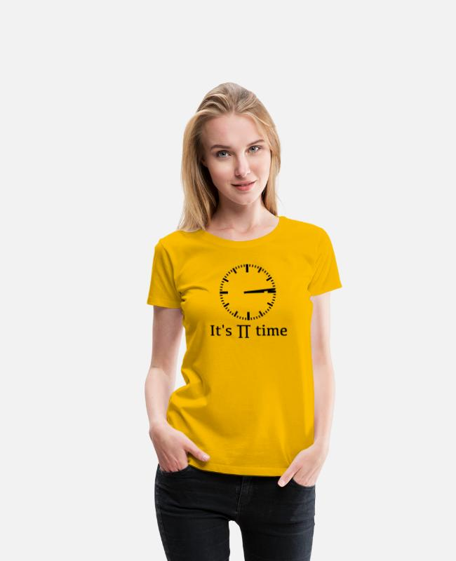 Klug T-Shirts - It's pi time - Frauen Premium T-Shirt Sonnengelb