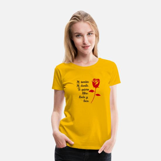 Birthday T-Shirts - Neither Submissive nor Devout - Feminist Phrases - Women's Premium T-Shirt sun yellow