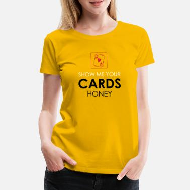 Texas Holdem Poker Cards Card Game Texas Holdem Gift - Women's Premium T-Shirt