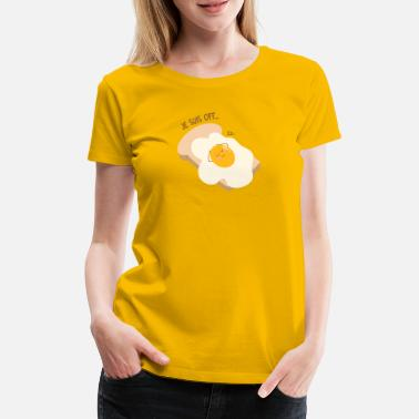 Egg Yolk egg sleeps - Women's Premium T-Shirt