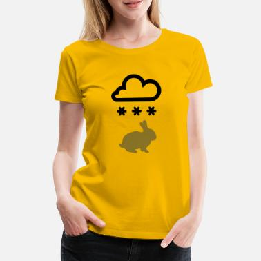 Bunny with snow cloud - Women's Premium T-Shirt