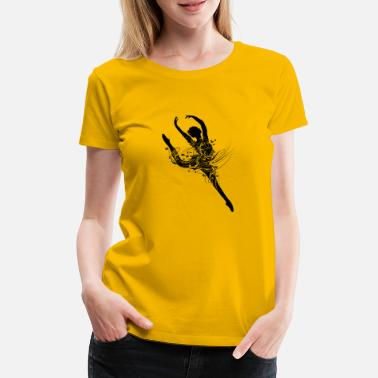 Ornamented Ballet dancer in fanciful ballet dress - Women's Premium T-Shirt