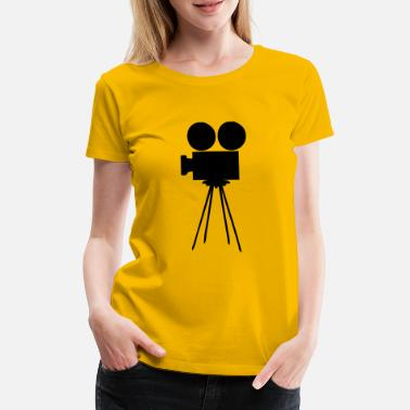 La caméra, objectif, photo, film, Movie, Cinema, - T-shirt premium Femme