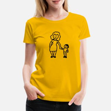 Primary Mother / grandmother + child - Line - Women's Premium T-Shirt