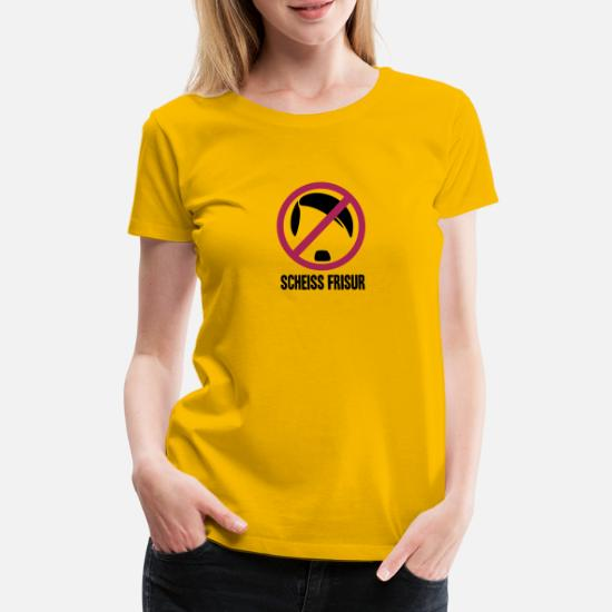Scheiss Frisur T Shirt Premium Femme Spreadshirt