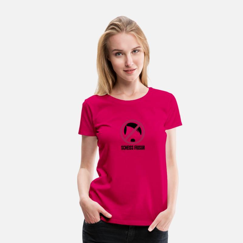Scheiss Frisur T Shirt Premium Femme Rubis
