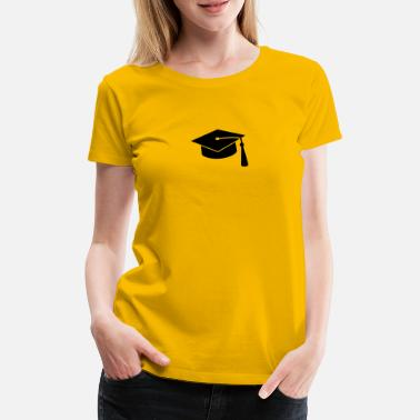 College graduation hat v2 - Premium T-skjorte for kvinner