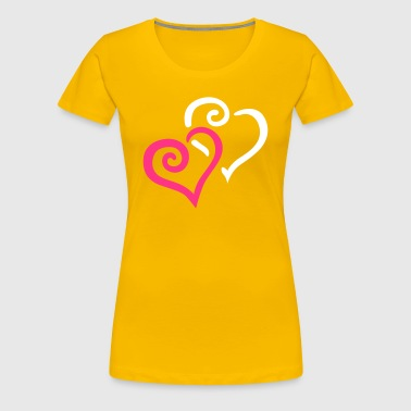 Heart Couple - Women's Premium T-Shirt
